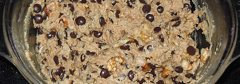 Cookies de chocolate y nueces: la masa