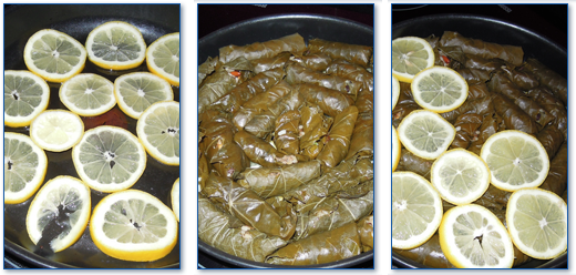 Cocer los dolmades